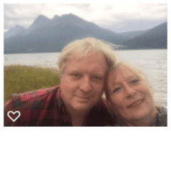 Brad & Katie at Canmore, Alberta