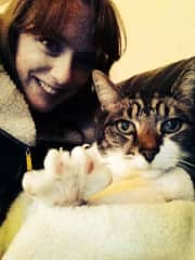 Me and Sid, my sisters lovely cat