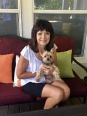 Gayle with Willis, who was 1/2 of the dynamic Yorkie duo. Great house sit in Roseburg, OR
