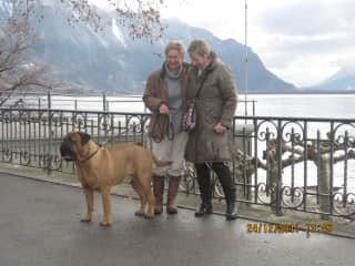 Gabrielle with Teddy in Montreux