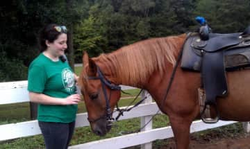 Though I don't get to very often, I love riding horses.