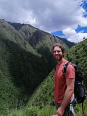 Hiking along the Inca Trail. I love hiking and the outdoors!