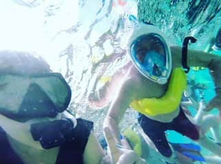 I was able to convince my father to go snorkeling with me!! Which was incredibly surprising because my father is a very reserved and serious, non adventurous man haha! Thai was by far the best experience of my life.