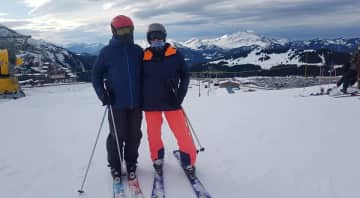 Skiing together in our winter residence Morzine in the French Alps