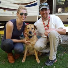 Dustin and Laci  with our rescue friend Josie.