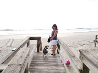 Hannah and I on Melbourne Beach walk