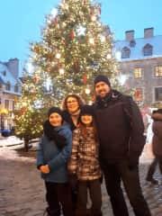 Petite famille à Québec