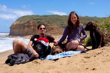 Christmas in Australia with Ceska, Divi and Koda