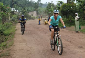 This Muzungu (white person) had the honor of riding with and working with my friend Frederick Ndabarymire (without hands) and the I am Able Handicap Rwandan Cycling team to show that disability is not an inability.