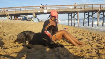 My nephew, Nero at Balboa island in Newport Beach, CA