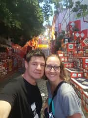 My wife and I in Rio Brazil!