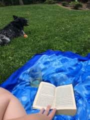 Outside with Trudy Girl Florida, USA