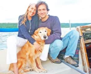 Sailing with Martin on Lake Cayuga.