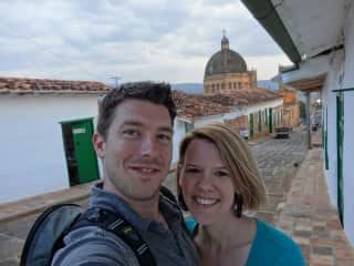 Mandy & Greg in Barichara, Colombia