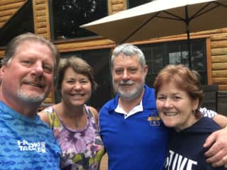 Jeff and I are the couple on the right in Minnesota at our friend's lake house.