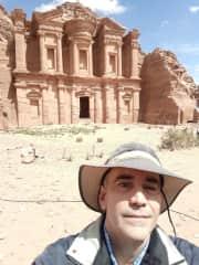 At Petra in Jordan 2019
