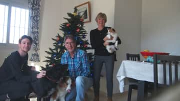 Our housesit in Sayalonga Spain at Christmas time with Toby/Poppy/Babe