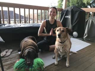 Yoga with Cadel and Alex from SA