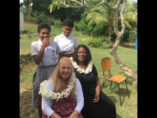 I have a mission group that I started 4 years ago. This wonderful calling is supporting education and medical needs in rural Fijian villages.  This is a photo of my second  mission trip