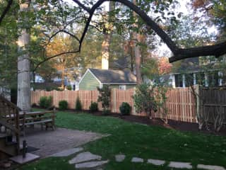 Back yard of our house