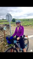 Me cycling across France
