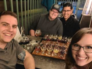 Dinner with friends at Superstition Meadery in Phoenix, AZ.