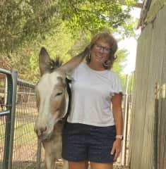 Ruby (the donkey) love.