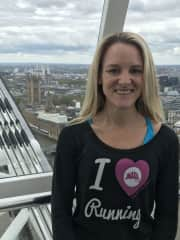 Catherine in London to support a client running the London Marathon