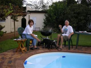 BBQ with our dogs