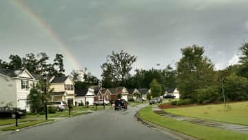 """It rains about 50"""" a year in Savannah, but we get rainbows!"""