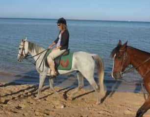 Me...Riding in Egypt.