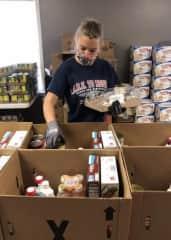 Volunteering at the food pantry