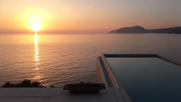 A luxury villa in corfu that I have house-sat with friends for several summers