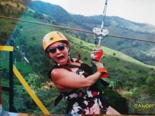 zip-lining in the Dominican.