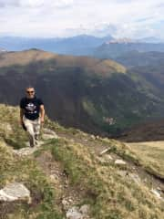 Gail's husband Rick during our hike on Monte Generoso, Ticino, Switzerland
