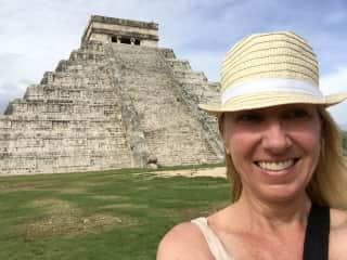 me at the Mayan temple Chichen Itza in Mexico