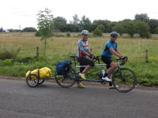 Our other passion. Cycle touring. Out tandem has over 30,000km on it!!