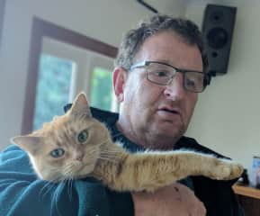 Greg with our beloved Milly