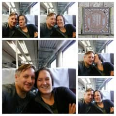 Traveling by train. We love to travel and if we can go by train, we love it.