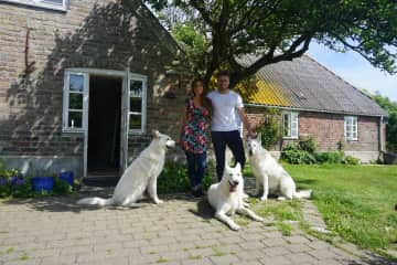 In Denmark! The most clever dogs that we knew.