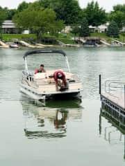 Daisy loves the boat