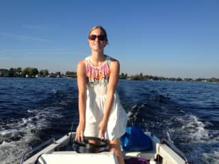 Going boating during a nice weekend in the Netherlands