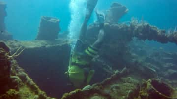 Chris scuba diving