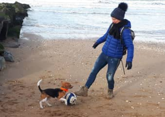 Playing at the beach with Nestea
