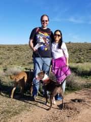 My boyfriend Tom, my dogs Tucker, Jenny and I