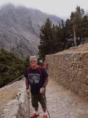 Garry hiking Samaria Gorge, Greece