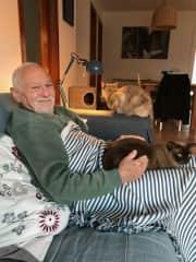 Lawrence with Samson and Lila