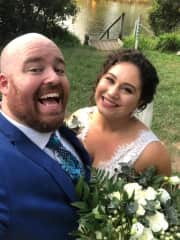 Chris and Richelle on our wedding day!