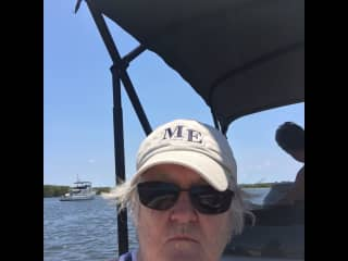 Out on the water with my brother and his wife off the coast of Stuart, Fl.