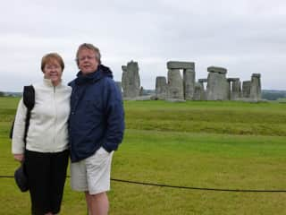 Roger and Shelly at Stonehenge